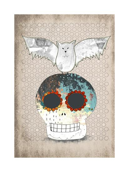 Skull and Bat-Sarah Ogren-Art Print