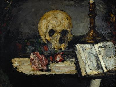 Skull and Candlestick, circa 1866-Paul C?zanne-Giclee Print