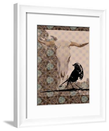 Skull Bird-Sarah Butcher-Framed Art Print
