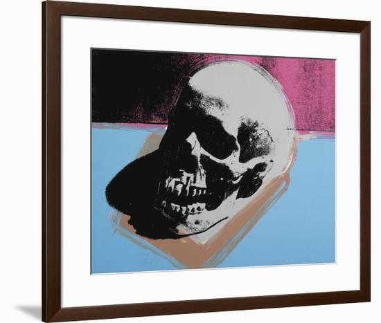 Skull, c.1976 (White on Blue and Pink)-Andy Warhol-Framed Giclee Print