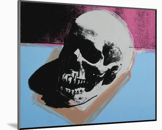 Skull, c.1976 (White on Blue and Pink)-Andy Warhol-Mounted Giclee Print