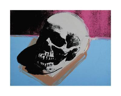 Skull, c.1976 (White on Blue and Pink)-Andy Warhol-Giclee Print