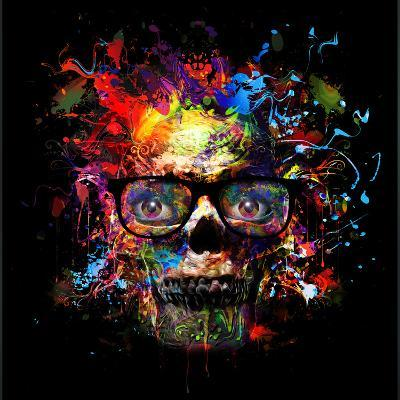 Skull in Glasses-reznik_val-Art Print