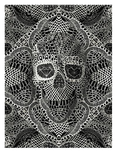 Skull Laces-Ali Gulec-Art Print
