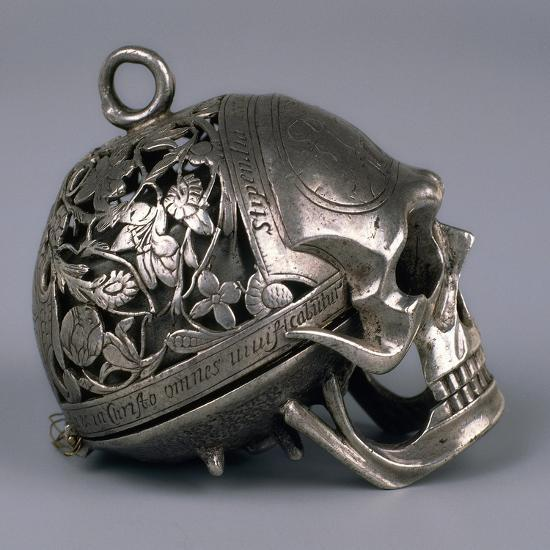 Skull-Shaped Clock, Silver and Gilt Brass, Geneva, Switzerland-Jean Rousseau-Giclee Print