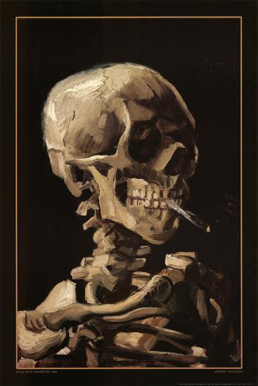 Skull With Cigarette, 1885-Vincent van Gogh-Poster