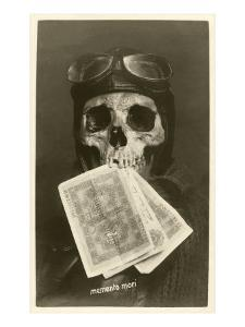 Skull with Pilots Cap and Goggles