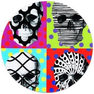 Skulls - Free Floating Circular Tempered Glass Graphic Wall Art