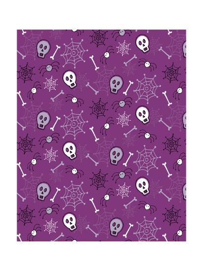 Skulls, Spiders, Bones-Esther Loopstra-Giclee Print