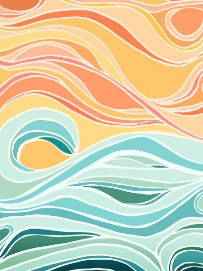 Sky And Sea-Modern Tropical-Art Print