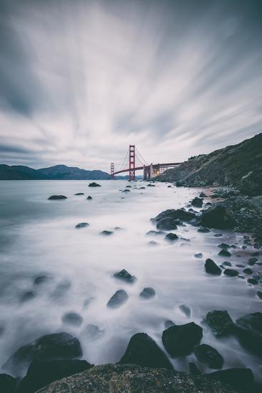 Sky and Water In Motion at Golden Gate Bridge - San Francisco-Vincent James-Photographic Print