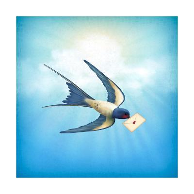 Sky Bird Letter Mail-kostins-Art Print