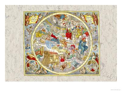 Sky Chart-Andreas Cellarius-Art Print