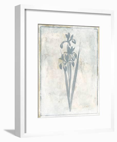 Sky Floral Four-Jace Grey-Framed Art Print