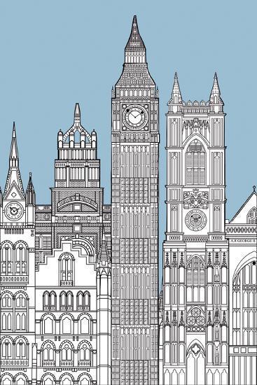 Sky Line I-Clara Wells-Giclee Print