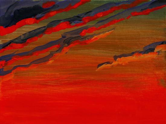 Sky Portrait of a Sunset-John Newcomb-Giclee Print