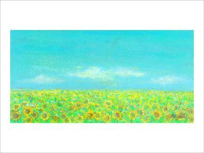 Sky, the Earth and Sunflower Field-Miyuki Hasekura-Giclee Print