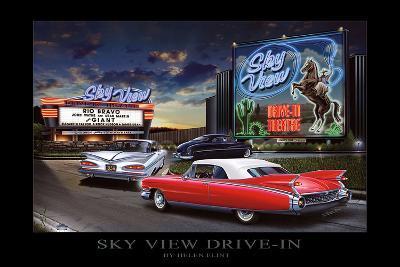 Sky View Drive-In-Helen Flint-Art Print
