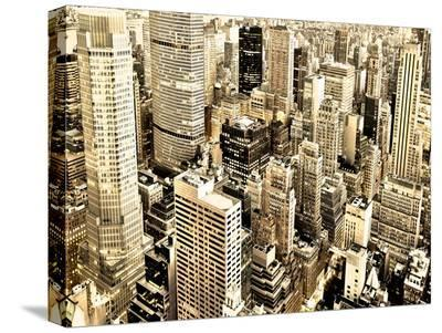 Skycrapers in Manhattan, NYC-Vadim Ratsenskiy-Stretched Canvas Print