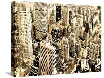 Skycrapers in Manhattan, NYC-Vadim Ratsenskiy-Stretched Canvas Print