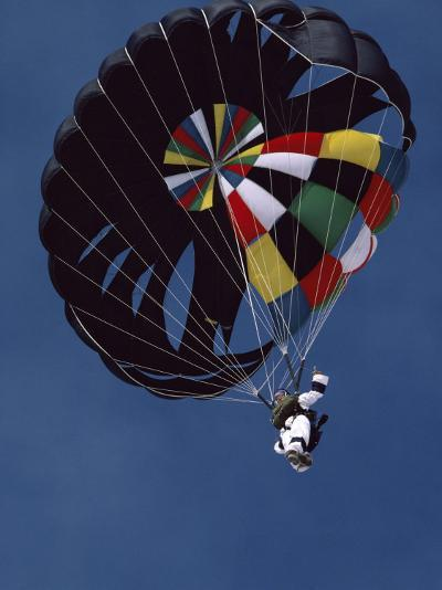 Skydiver with Parachute--Photographic Print