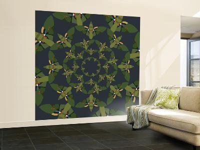 Skydiving Moths-Belen Mena-Wall Mural – Large