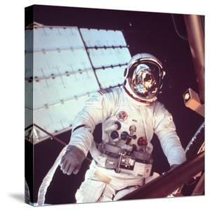 Skylab Astronaut Jack R. Lousma in Space Suit During Space Walk