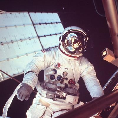 Skylab Astronaut Jack R. Lousma in Space Suit During Space Walk--Photographic Print