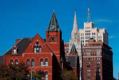 Skyline and church on Grand Avenue, St. Louis, Mo.--Photographic Print
