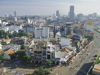 Skyline and Modern Construction, Ho Chi Minh City (Saigon), Vietnam, Indochina, Asia-Gavin Hellier-Photographic Print