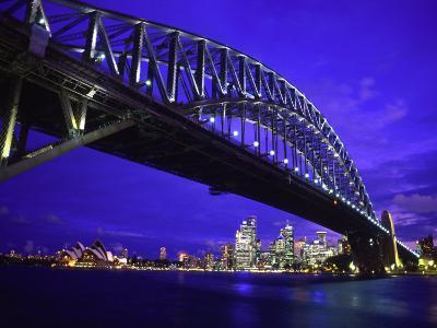 Skyline and the Harbor Bridge, Sydney, Australia-Bill Bachmann-Photographic Print