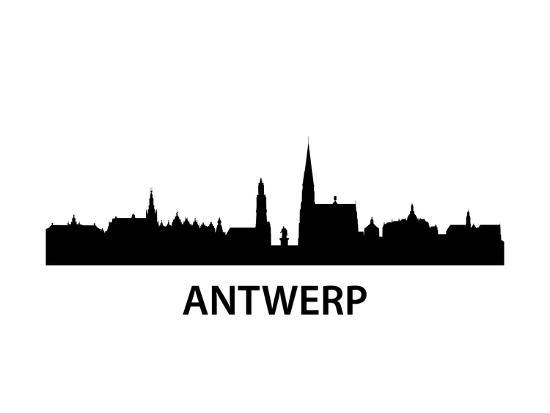 Skyline Antwerp-unkreatives-Art Print