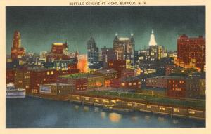 Skyline at Night, Buffalo, New York