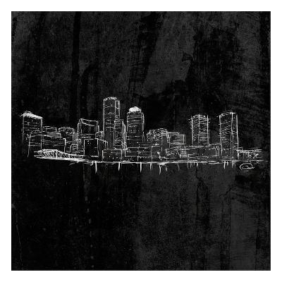 Skyline Black-OnRei-Art Print