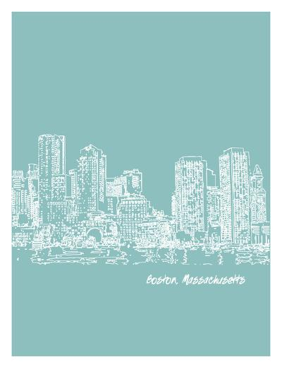 Skyline Boston 5-Brooke Witt-Art Print