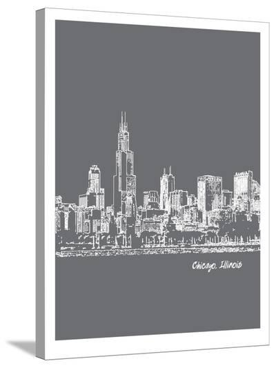 Skyline Chicago 1-Brooke Witt-Stretched Canvas Print