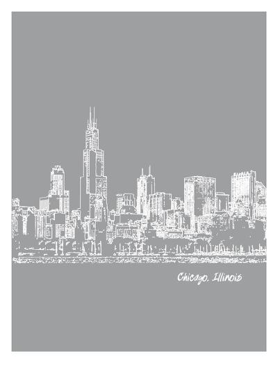 Skyline Chicago 2-Brooke Witt-Art Print