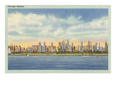 Skyline, Chicago, Illinois--Art Print