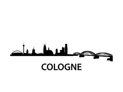 Skyline Cologne-unkreatives-Art Print