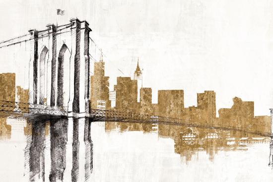 Skyline Crossing Gold-Avery Tillmon-Art Print