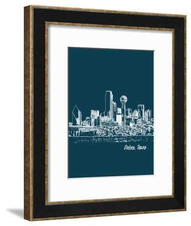 Skyline Dallas 3-Brooke Witt-Framed Art Print
