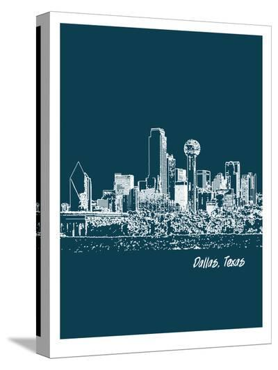 Skyline Dallas 3-Brooke Witt-Stretched Canvas Print