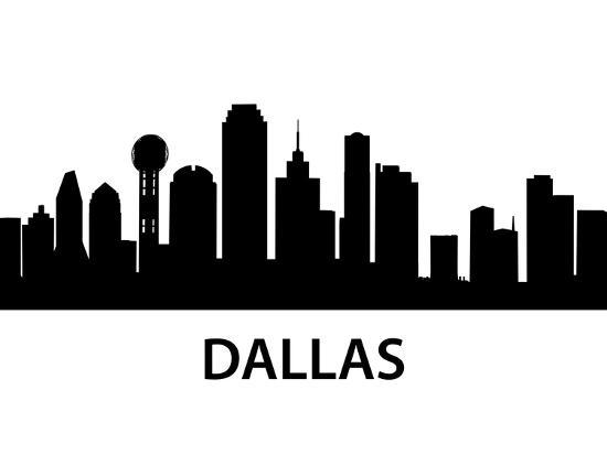 Skyline Dallas-unkreatives-Art Print