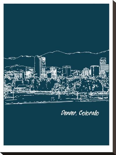 Skyline Denver 3-Brooke Witt-Stretched Canvas Print