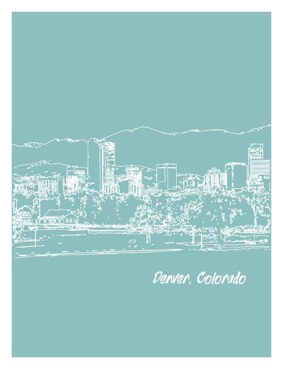 Skyline Denver 5-Brooke Witt-Art Print