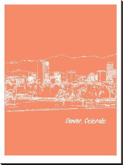 Skyline Denver 8-Brooke Witt-Stretched Canvas Print