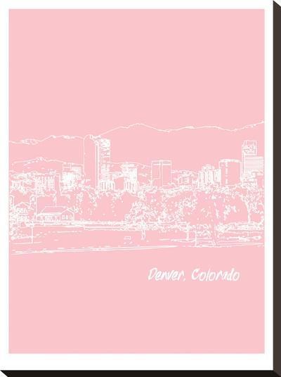 Skyline Denver 9-Brooke Witt-Stretched Canvas Print