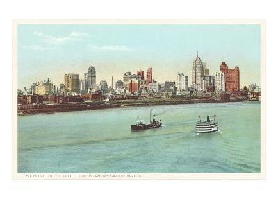 Skyline, Detroit, Michigan--Art Print