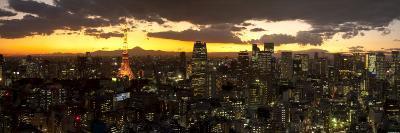 Skyline from Shiodome, Tokyo, Japan-Jon Arnold-Photographic Print