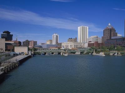 Skyline, Genessee River, Rochester, New York-Bill Bachmann-Photographic Print